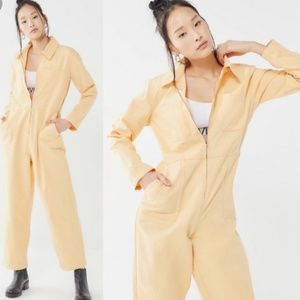 BDG Yellow Rosie Utility Jumpsuit